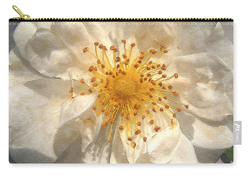 Rose Carry-all Pouch featuring the painting Wide Open by RC deWinter