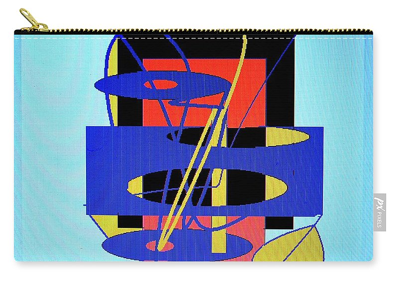 Abstract Carry-all Pouch featuring the digital art Widget World by Ian MacDonald