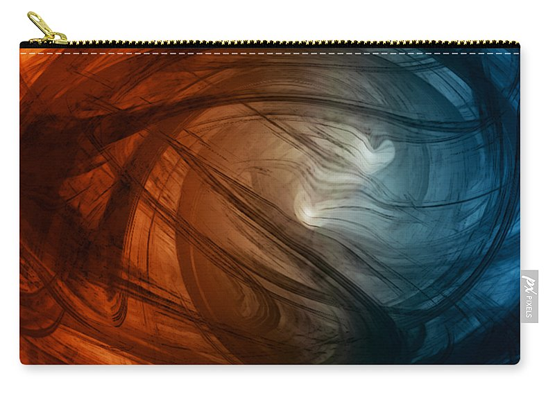 Wild As The Wind Carry-all Pouch featuring the digital art Wild As The Wind by Linda Sannuti