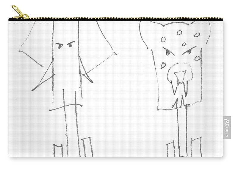 Elephant Carry-all Pouch featuring the painting Wild At Heart by Charles Stuart