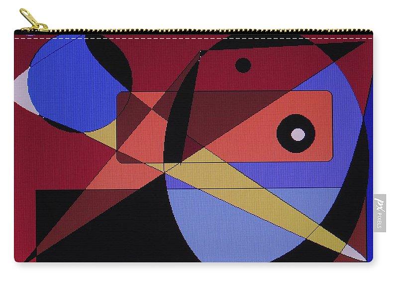 Abstract Bird Carry-all Pouch featuring the digital art Wild Bird by Ian MacDonald