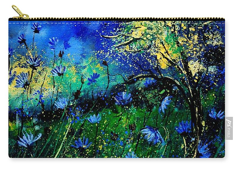 Poppies Carry-all Pouch featuring the painting Wild Chocoree by Pol Ledent