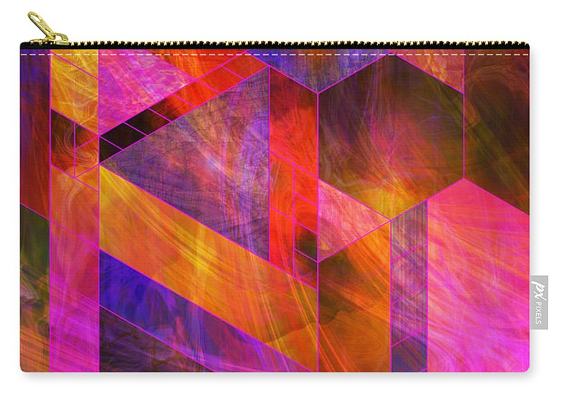 Wild Fire Carry-all Pouch featuring the digital art Wild Fire by John Beck