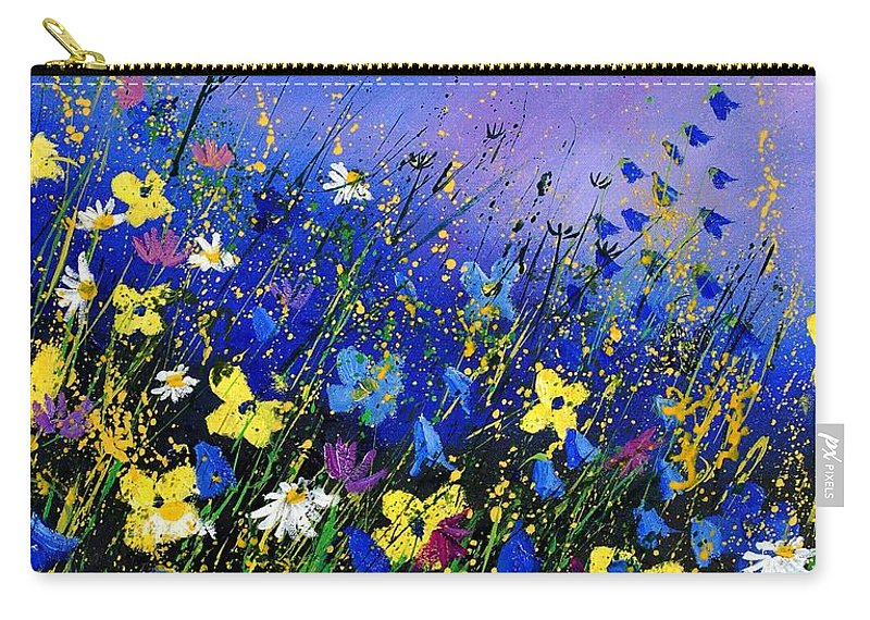 Flowers Carry-all Pouch featuring the painting Wild Flowers 560908 by Pol Ledent