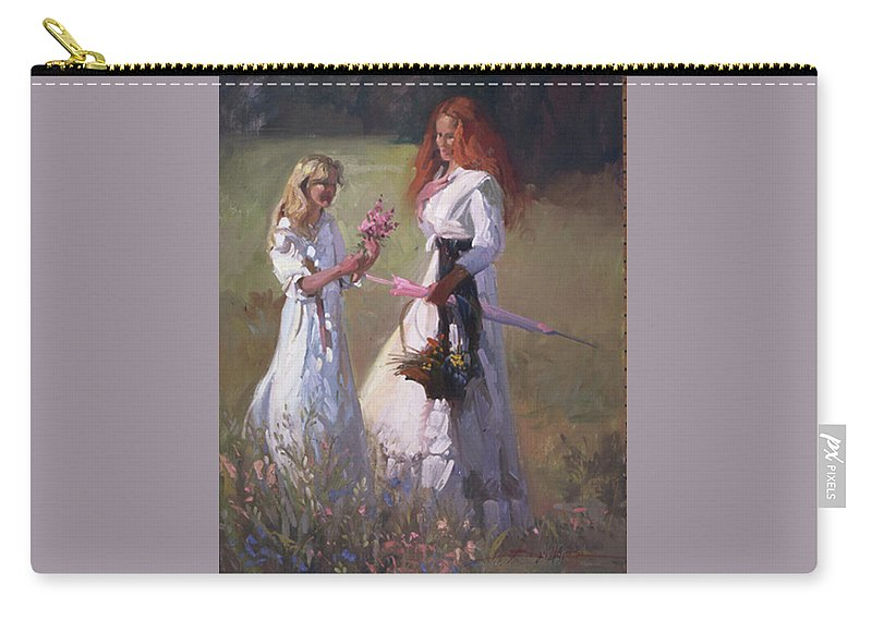 Flowers Carry-all Pouch featuring the painting Wild Flowers by Betty Jean Billups