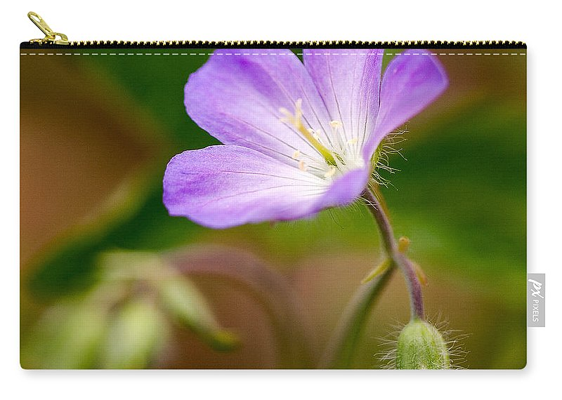 Flower Carry-all Pouch featuring the photograph Wild Geranium by Louise Heusinkveld