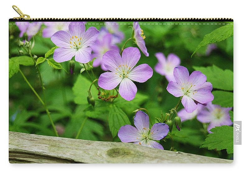 Flowers Carry-all Pouch featuring the photograph Wild Geraniums by Michael Peychich