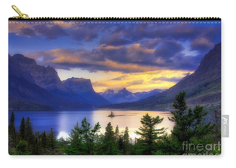 Wild Goose Island Carry-all Pouch featuring the photograph Wild Goose Island by Mel Steinhauer