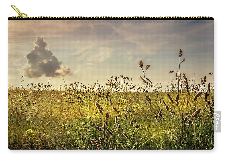 Photography Carry-all Pouch featuring the photograph Wild Grass And A Lonely Cloud by Joe Rey