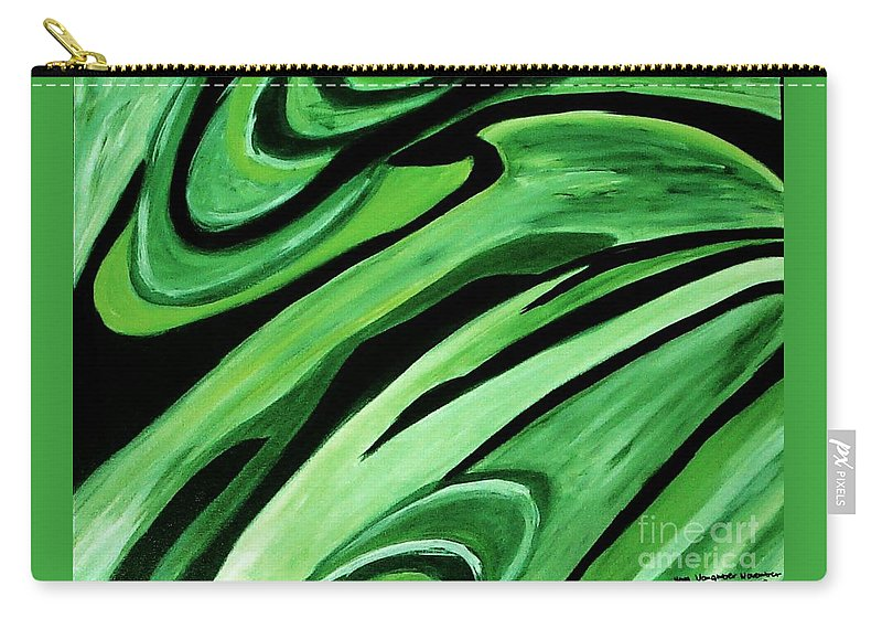Painting Carry-all Pouch featuring the painting Wild Green by Yael VanGruber