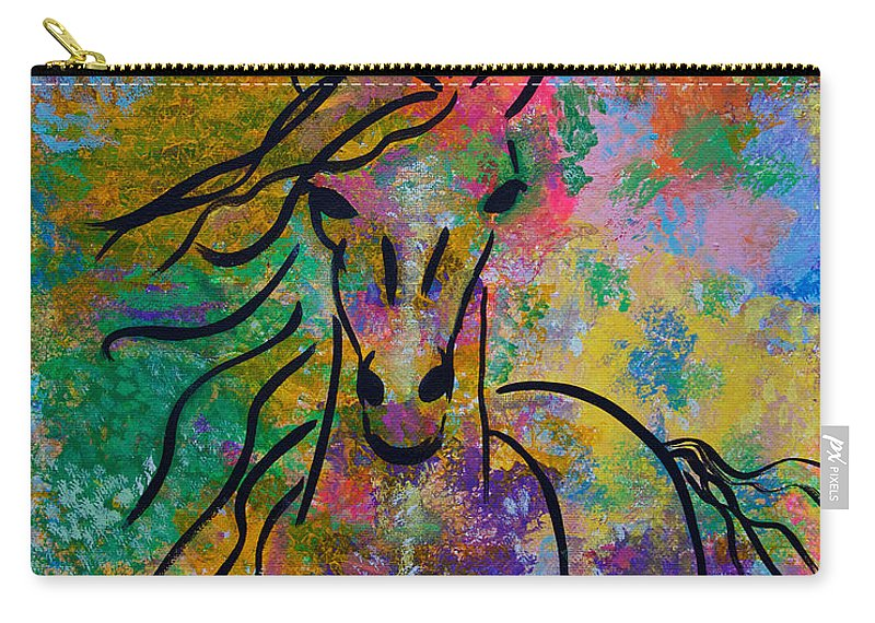 Horse Carry-all Pouch featuring the painting Wild Horse by Sacha Hope