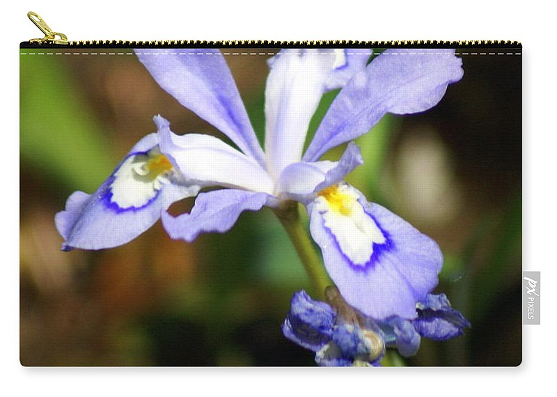 Wild Iris Carry-all Pouch featuring the photograph Wild Iris by Marty Koch