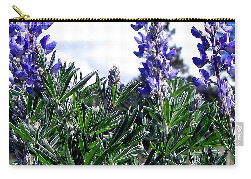 Lupines Carry-all Pouch featuring the photograph Wild Lupines by Will Borden