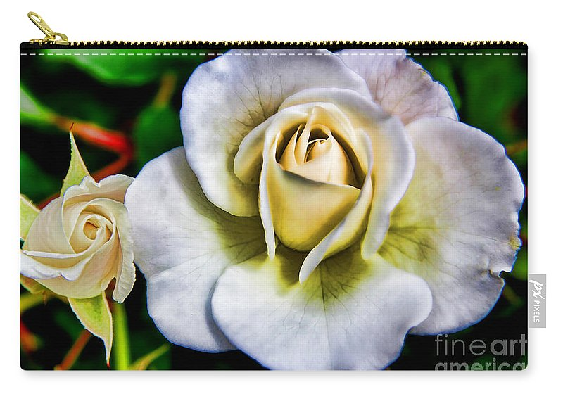 Wild Rose Carry-all Pouch featuring the photograph Wild Rose by Mariola Bitner