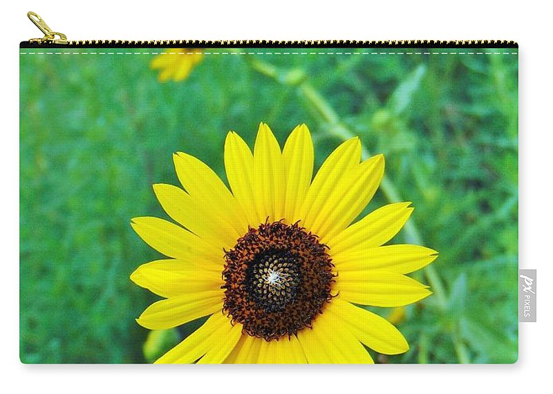 Flower Carry-all Pouch featuring the photograph Wild Sunflower by Carl Miller