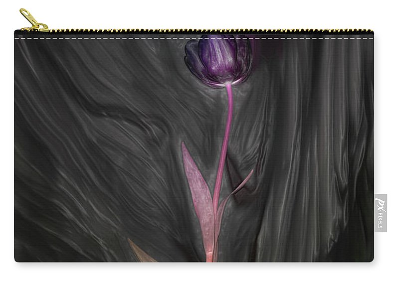 Wild Tulip Carry-all Pouch featuring the photograph Wild Tulip by Linda Sannuti