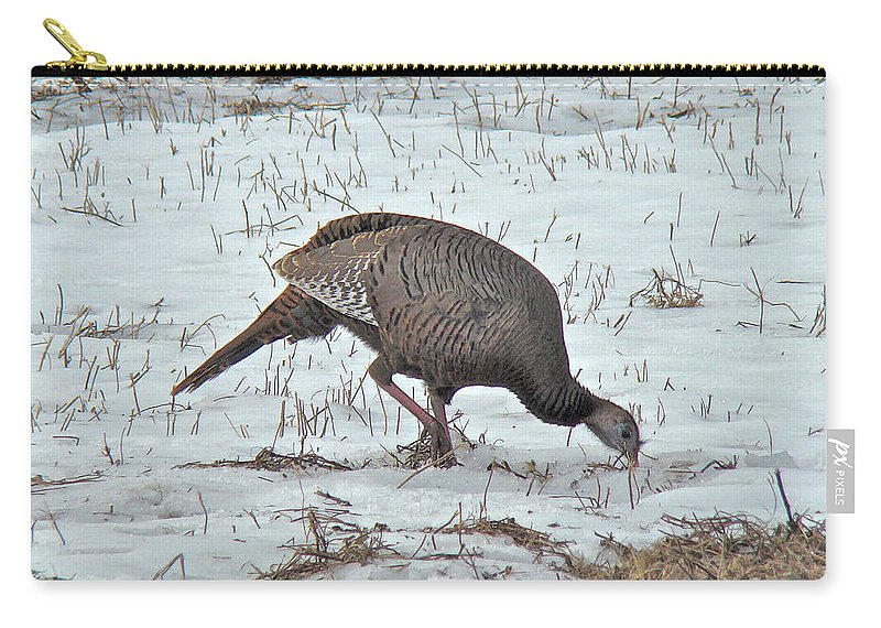 Turkey Carry-all Pouch featuring the photograph Wild Turkey - Meleagris Gallopavo by Mother Nature