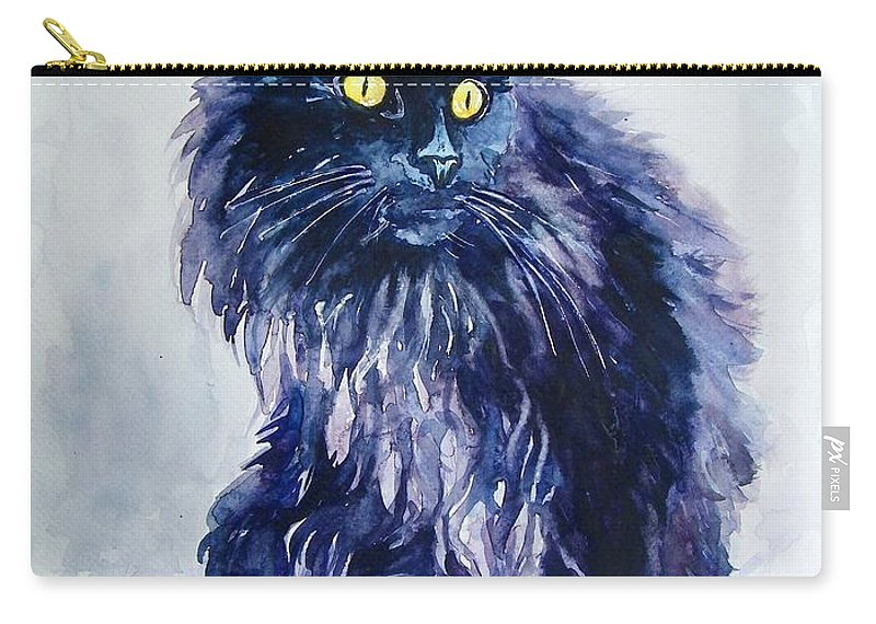 Little Carry-all Pouch featuring the painting Wild Vagabond by Suzann Sines