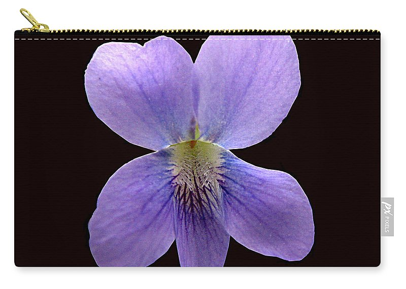 Violet Carry-all Pouch featuring the photograph Wild Violet On Black by J M Farris Photography