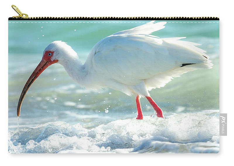 Ibis Carry-all Pouch featuring the photograph Wild Winds by Betsy Knapp