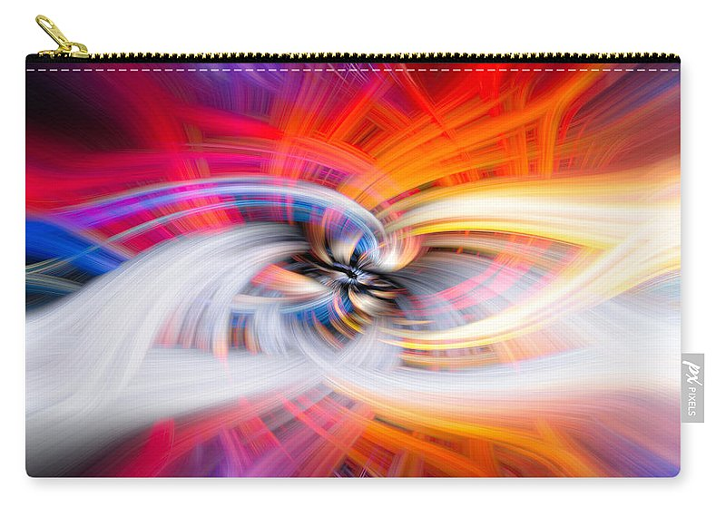 Indian Carry-all Pouch featuring the photograph Wildfire Lights by Debra and Dave Vanderlaan