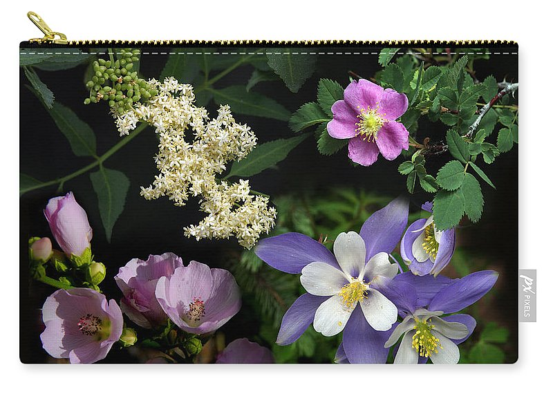Nature Carry-all Pouch featuring the photograph Wildflower Collage by David Salter