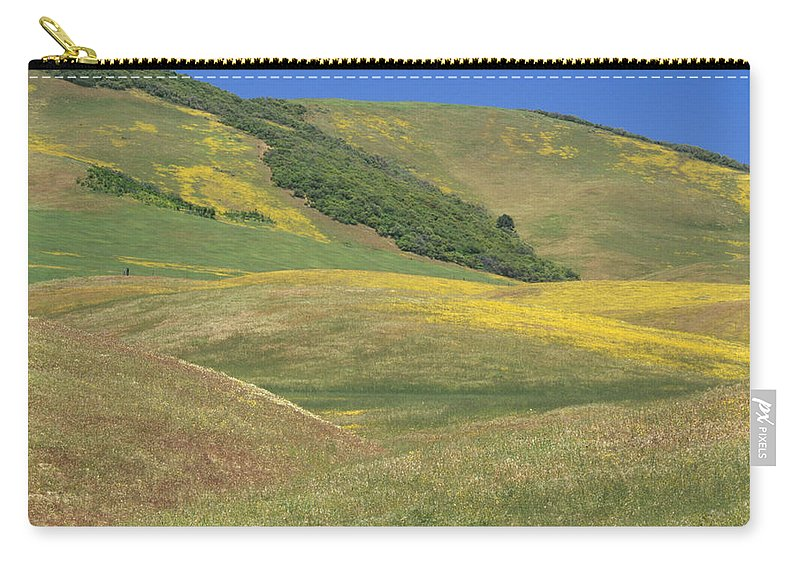 Layered Hills Carry-all Pouch featuring the photograph Wildflower Display - Salisbury Potrero by Soli Deo Gloria Wilderness And Wildlife Photography