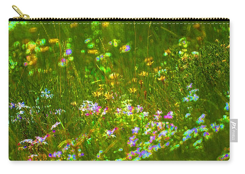Wildflower Carry-all Pouch featuring the photograph Wildflower Field by Heather Coen