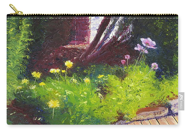 Landscape Carry-all Pouch featuring the painting Wildflower Garden by Lea Novak