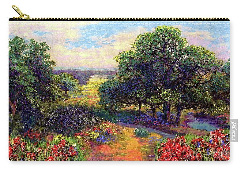Floral Carry-all Pouch featuring the painting Wildflower Meadows of Color and Joy by Jane Small