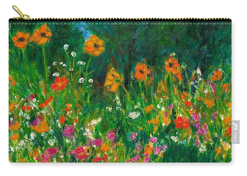 Wildflowers Carry-all Pouch featuring the painting Wildflower Rush by Kendall Kessler
