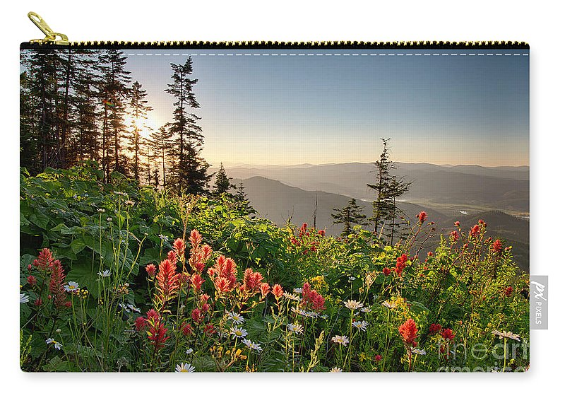 Idaho Carry-all Pouch featuring the photograph Evening Kisses by Idaho Scenic Images Linda Lantzy