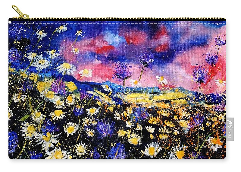 Flowers Carry-all Pouch featuring the painting Wildflowers 67 by Pol Ledent