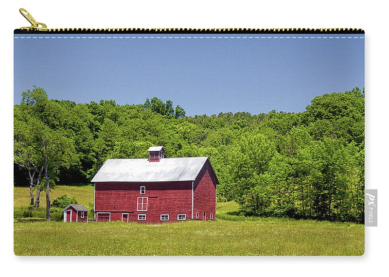 Barn Carry-all Pouch featuring the photograph Wildflowers Barn by Rod Best
