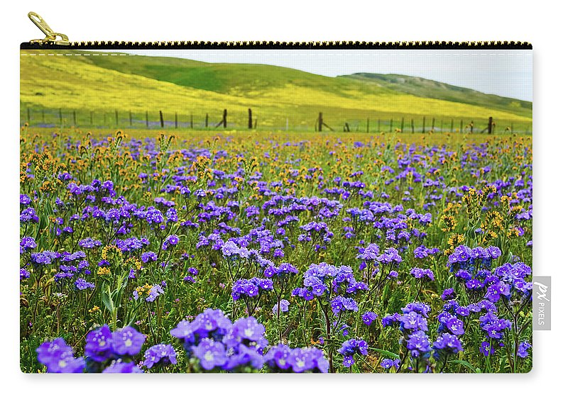 Carrizo Plain National Monument Carry-all Pouch featuring the photograph Wildflowers Carrizo Plain by Kyle Hanson