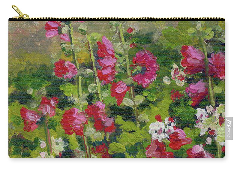 Impressionism Carry-all Pouch featuring the painting Wildflowers by Keith Burgess