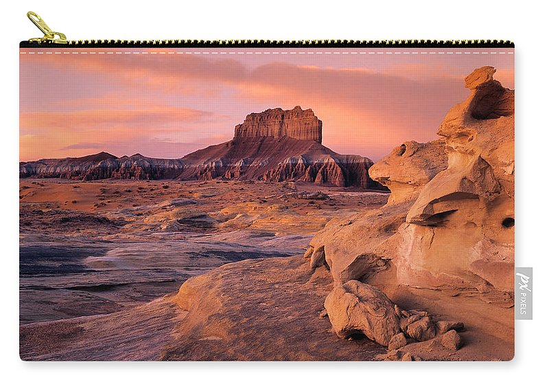 Wildhorse Butte Carry-all Pouch featuring the photograph Wildhorse Butte by Leland D Howard