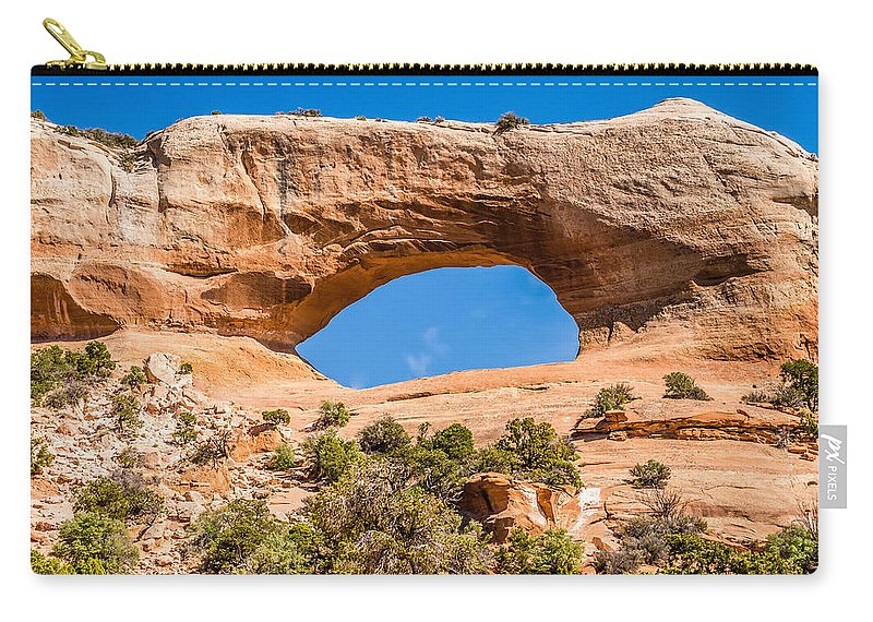 Arch Carry-all Pouch featuring the photograph Wildon Arch In Utah by Alex Grichenko