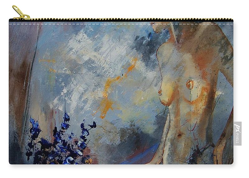 Girl Carry-all Pouch featuring the painting Will He Be Coming by Pol Ledent