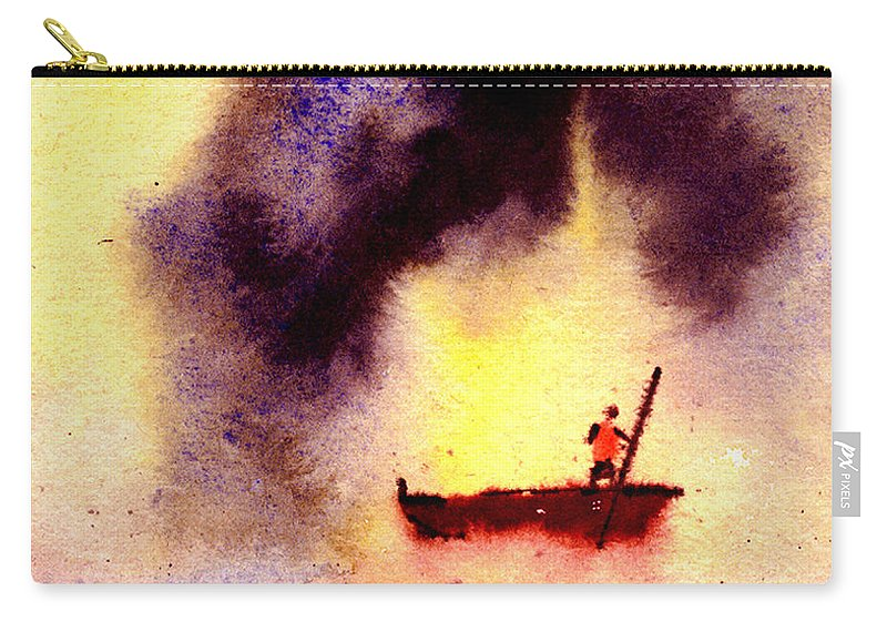 Landscape Carry-all Pouch featuring the painting Will Power by Anil Nene