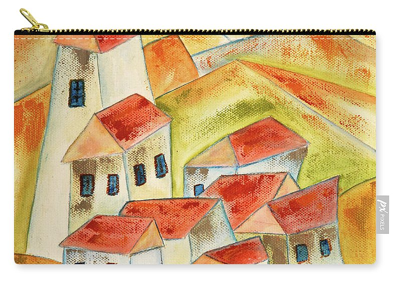 White Carry-all Pouch featuring the painting Willage by Vilem Buchmann