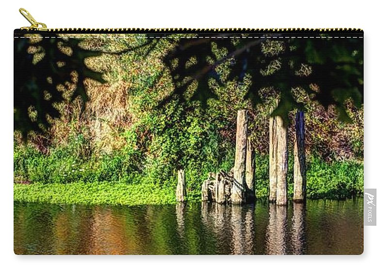 Oregon Carry-all Pouch featuring the photograph Willamette River Reflections 3783 by Jerry Sodorff