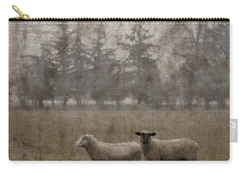 Sheep Carry-all Pouch featuring the photograph Willamette Valley Oregon by Carol Leigh