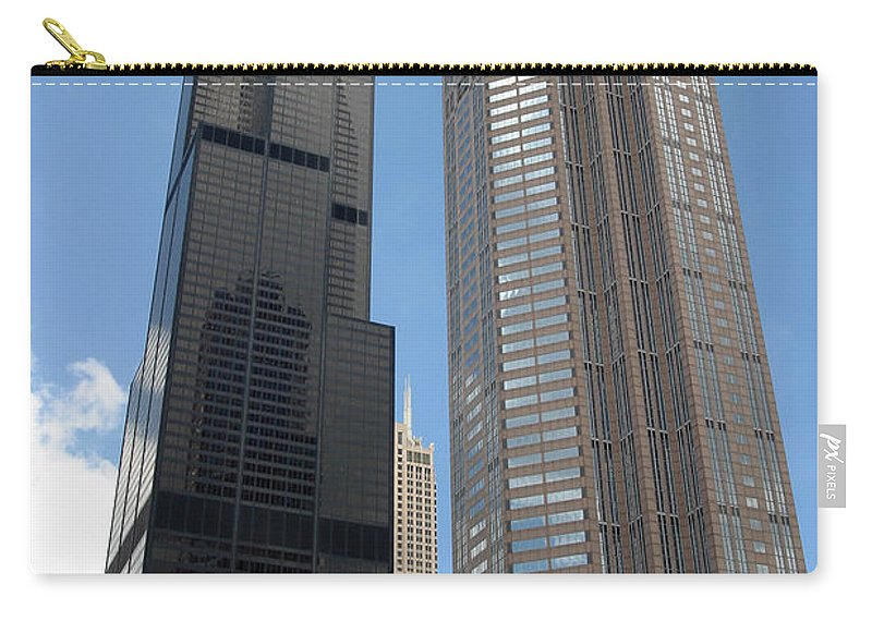 3scape Carry-all Pouch featuring the photograph Willis Tower Aka Sears Tower And 311 South Wacker Drive by Adam Romanowicz