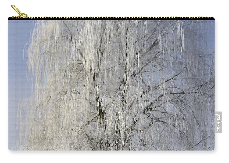 Willow Carry-all Pouch featuring the photograph Willow In Ice by Deborah Benoit