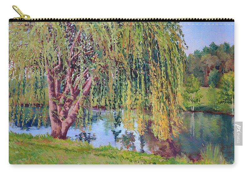 Impressionism Carry-all Pouch featuring the painting Willow by Keith Burgess
