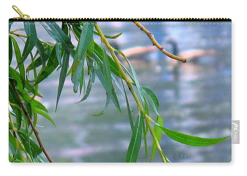 Canada Carry-all Pouch featuring the photograph Willow Over The Water by Ian MacDonald