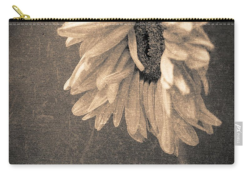 Flower Carry-all Pouch featuring the photograph Wilting In Colour by Tara Turner