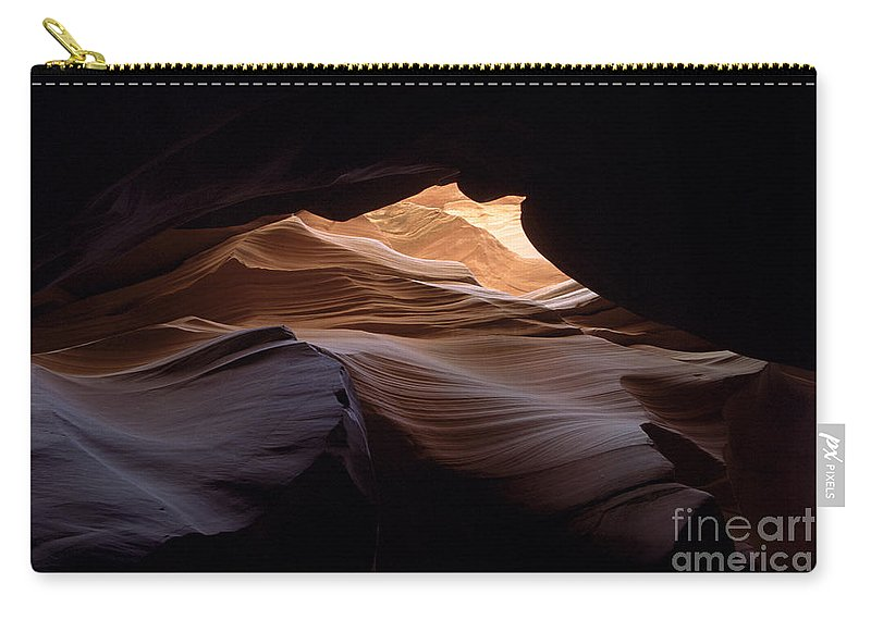 Antelope Canyon Carry-all Pouch featuring the photograph Wind And Water by Kathy McClure