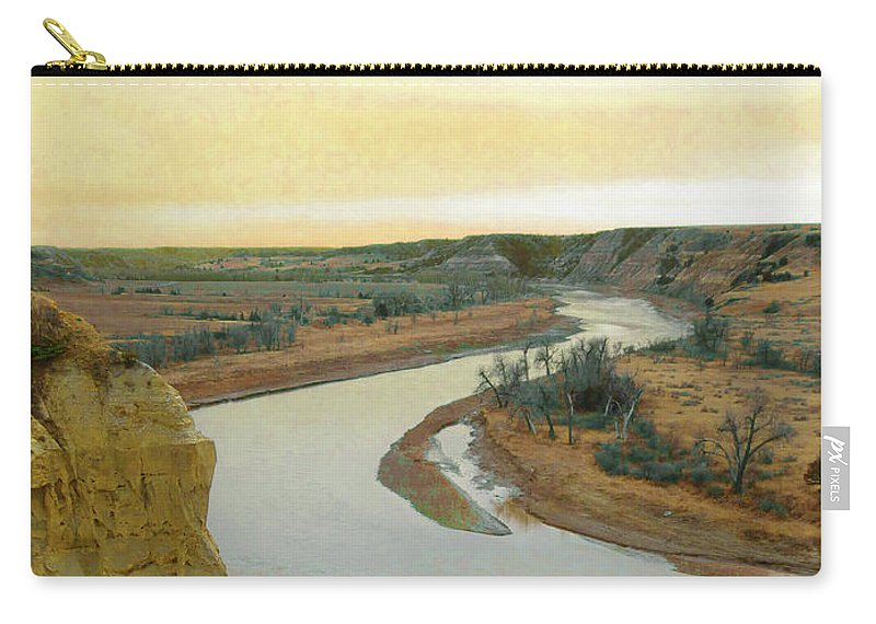North Dakota Carry-all Pouch featuring the photograph Wind Canyon Grassland Fantasy by Cris Fulton